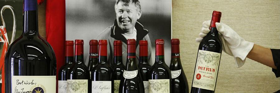 Alex Ferguson vendió sus vinos valorados en 3,6 millones de Euros