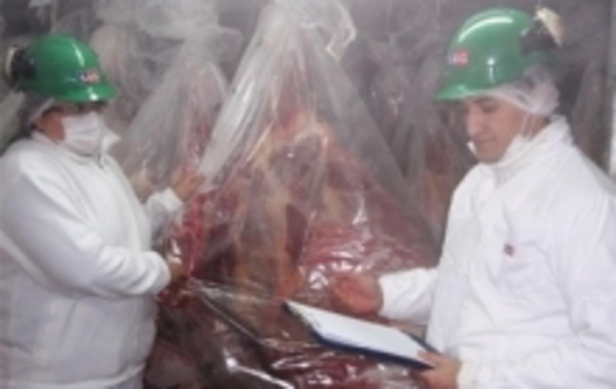 Primer envío de carne bovina congelada a China