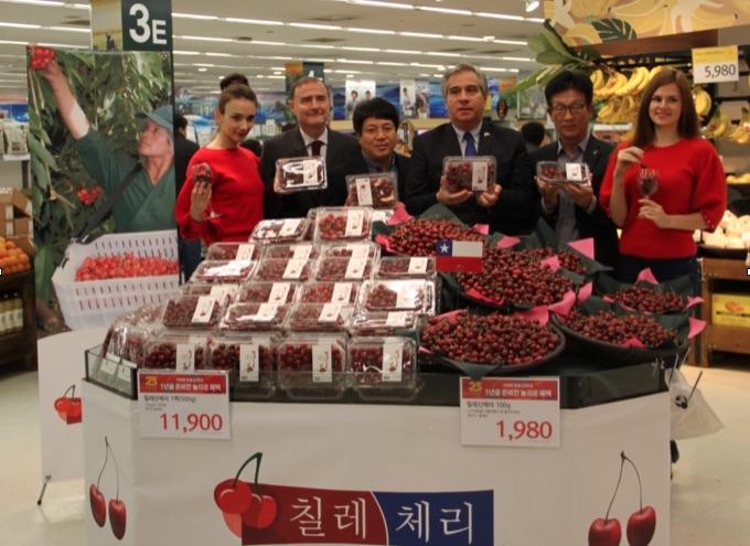 Cerezas chilenas obtienen buenos resultados en Corea del Sur