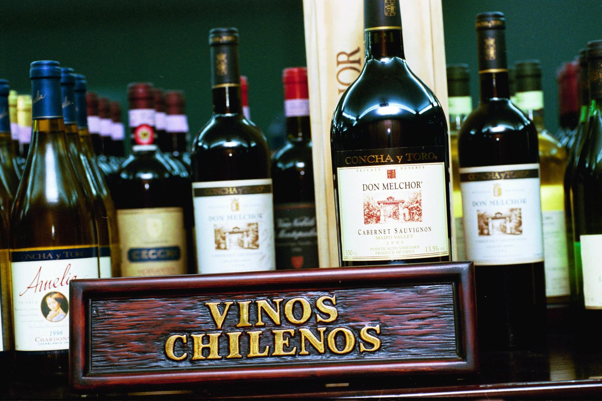 Exportaciones de vino chileno han crecido un 18.8% lo que va del año