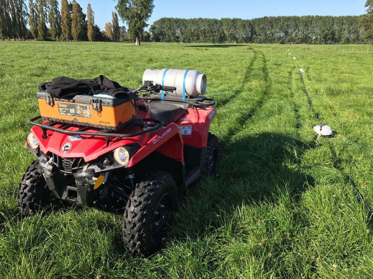 Presentaron ATV Agrícola Can AM 450L, potenciada por gas licuado de petróleo