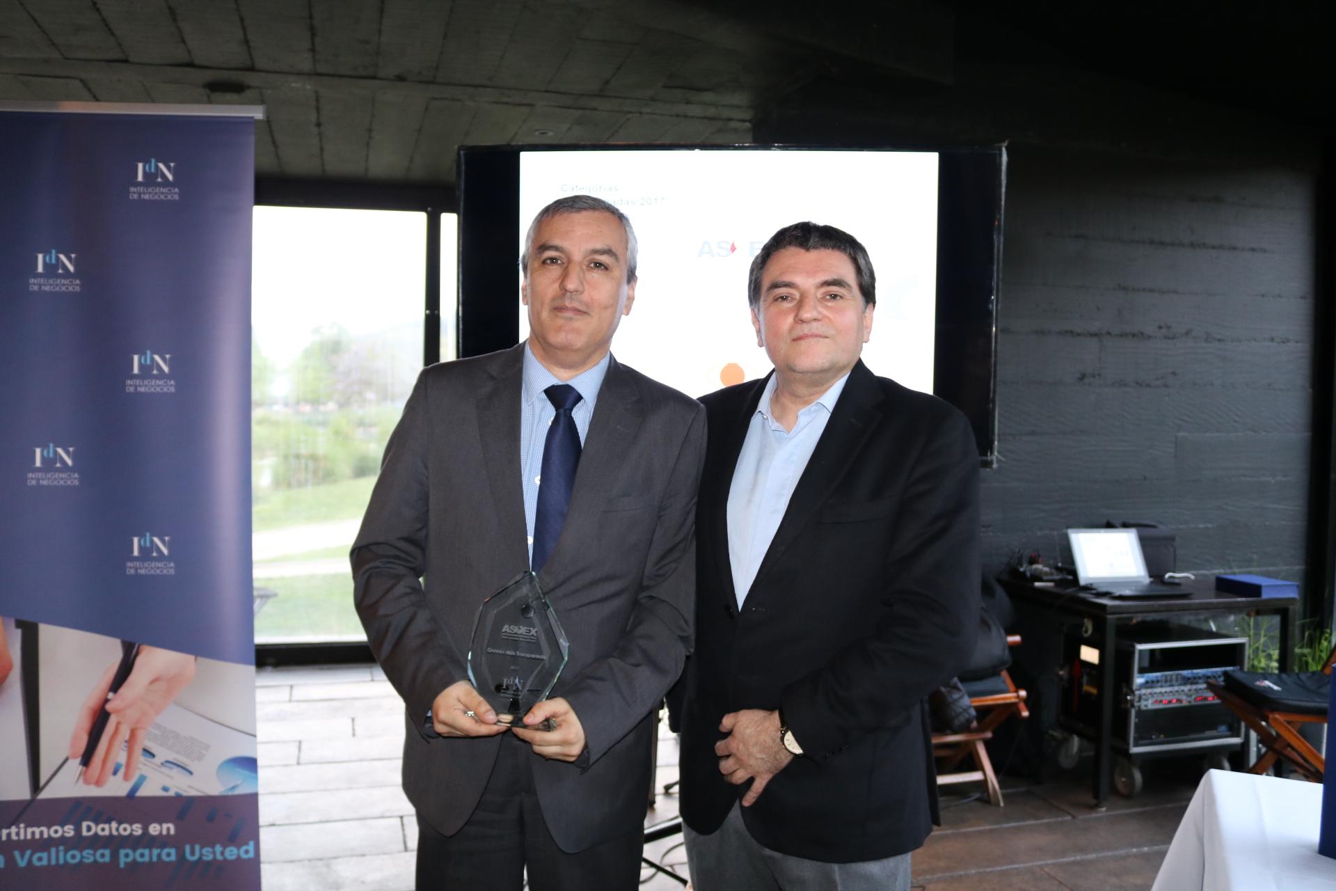 ASOEX recibió el premio Asociación gremial transparente