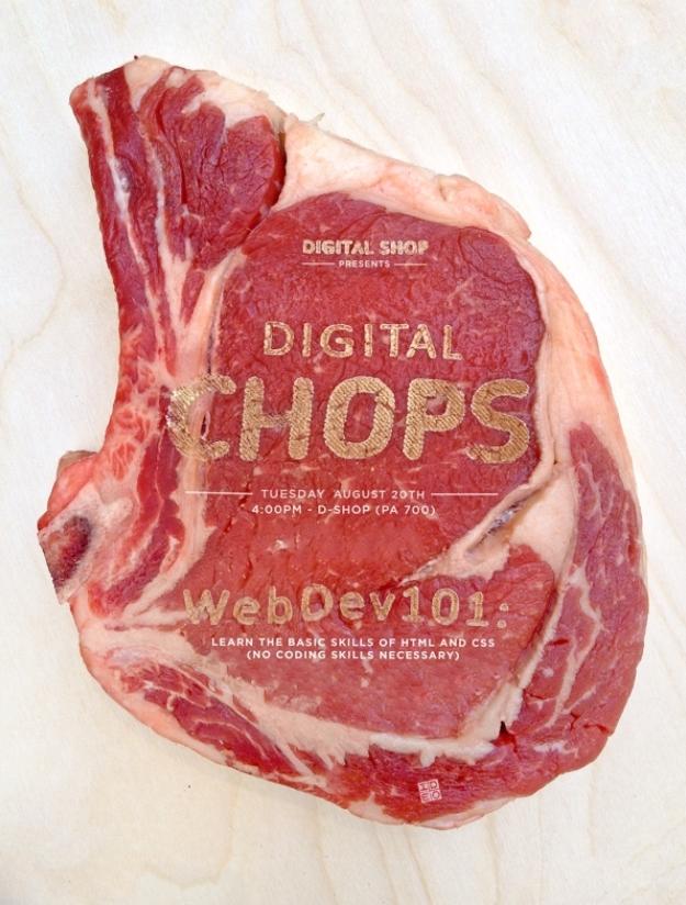 Publicidad grabada en la carne cruda