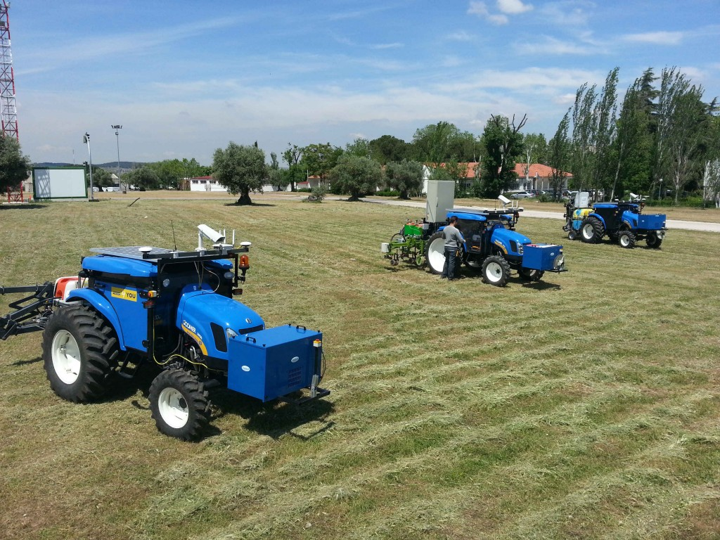Robots tractores para ser más eficientes