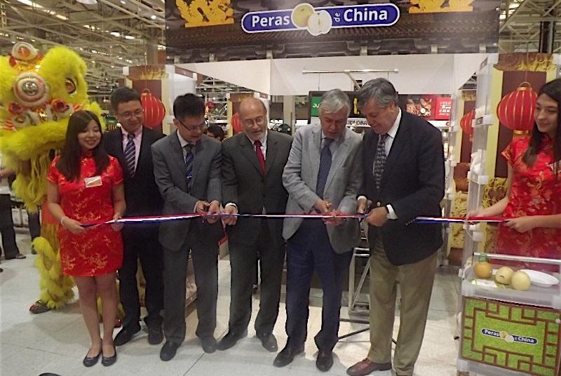 Lanzamiento de peras Chinas en Chile estrecha lazos comerciales