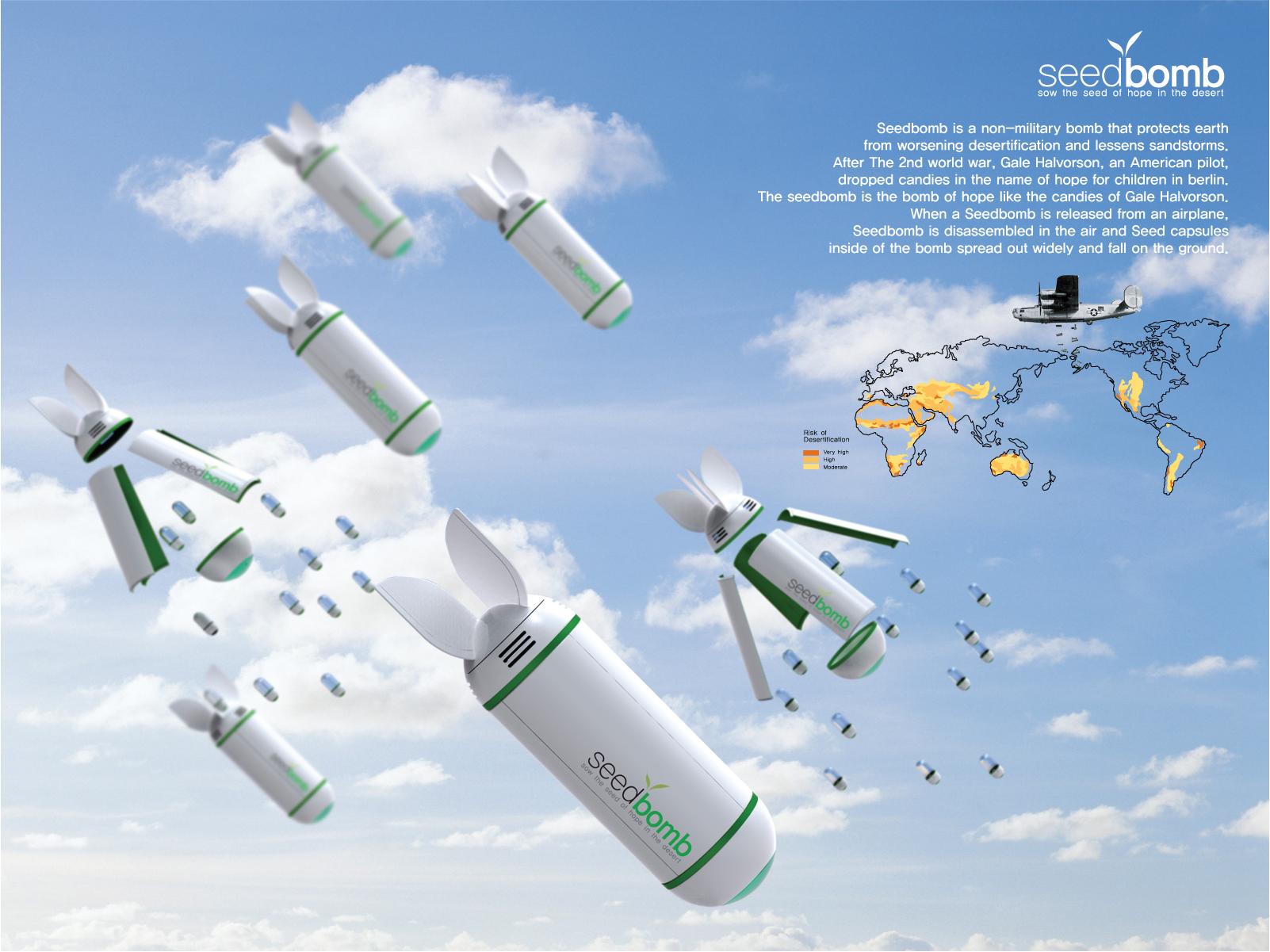 Bombardeo de semillas para reforestar la Tierra