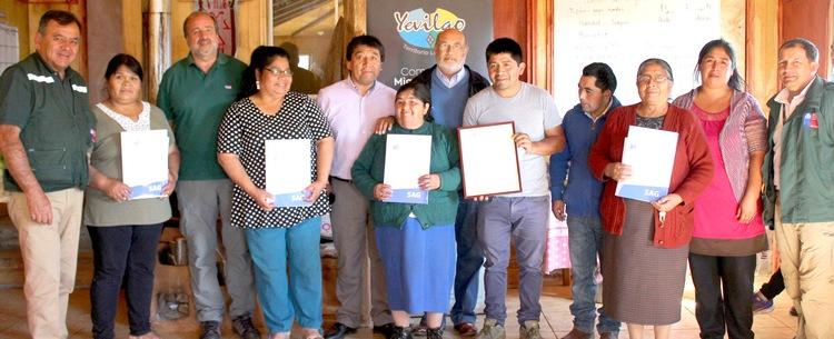 Primera certificación orgánica a comunidad mapuche
