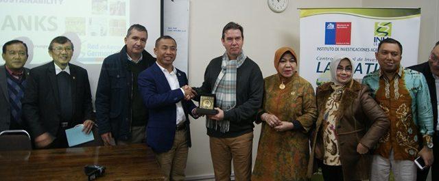 Representantes de Indonesia visitan Chile para conocer programa de recursos genéticos