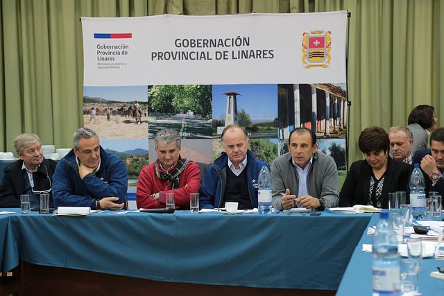 Ministro Walker propone crear cooperativa para el sector agrícola en Linares