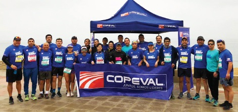 El equipo de runners de Copeval participó en la maratón de Viña