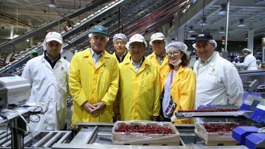 Ministro Walker visitó junto al Ministro de Aduanas chino empresas exportadoras