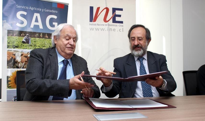 INE y SAG firman convenio para intercambio de información y uso de tecnología