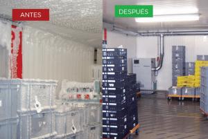 Cómo eliminar la indeseada humedad en cámaras frigoríficas