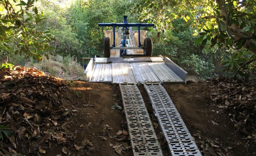 Nuevo sistema mecanizado para cultivos en ladera de cerro permite reducir costos de cosecha