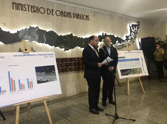 Pronóstico de disponibilidad hídrica para la temporada de riego 2019-2020