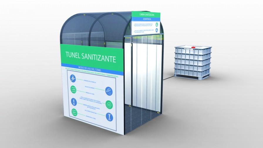 Desarrollan túnel sanitizante con micronebulización