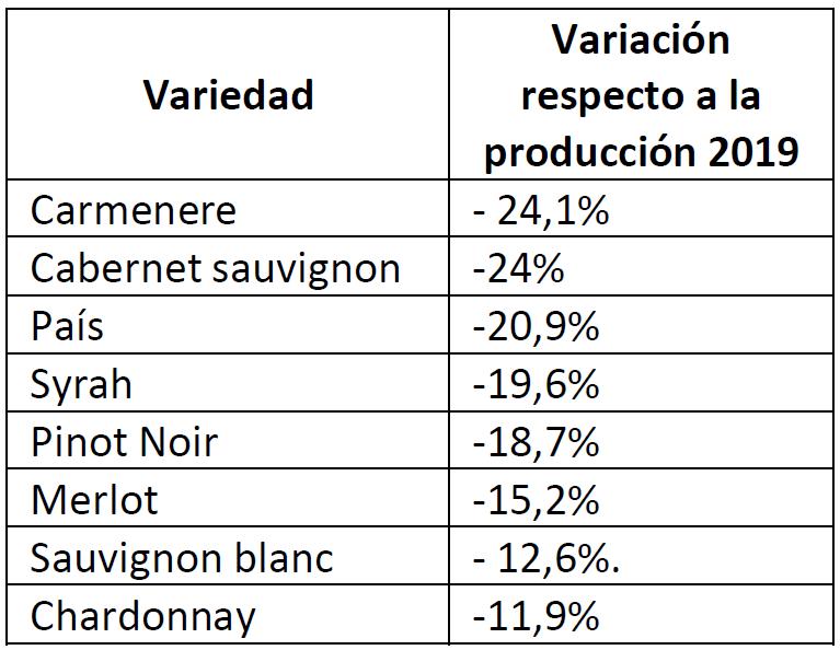 Producción de vinos baja 13,4% en comparación con el año anterior