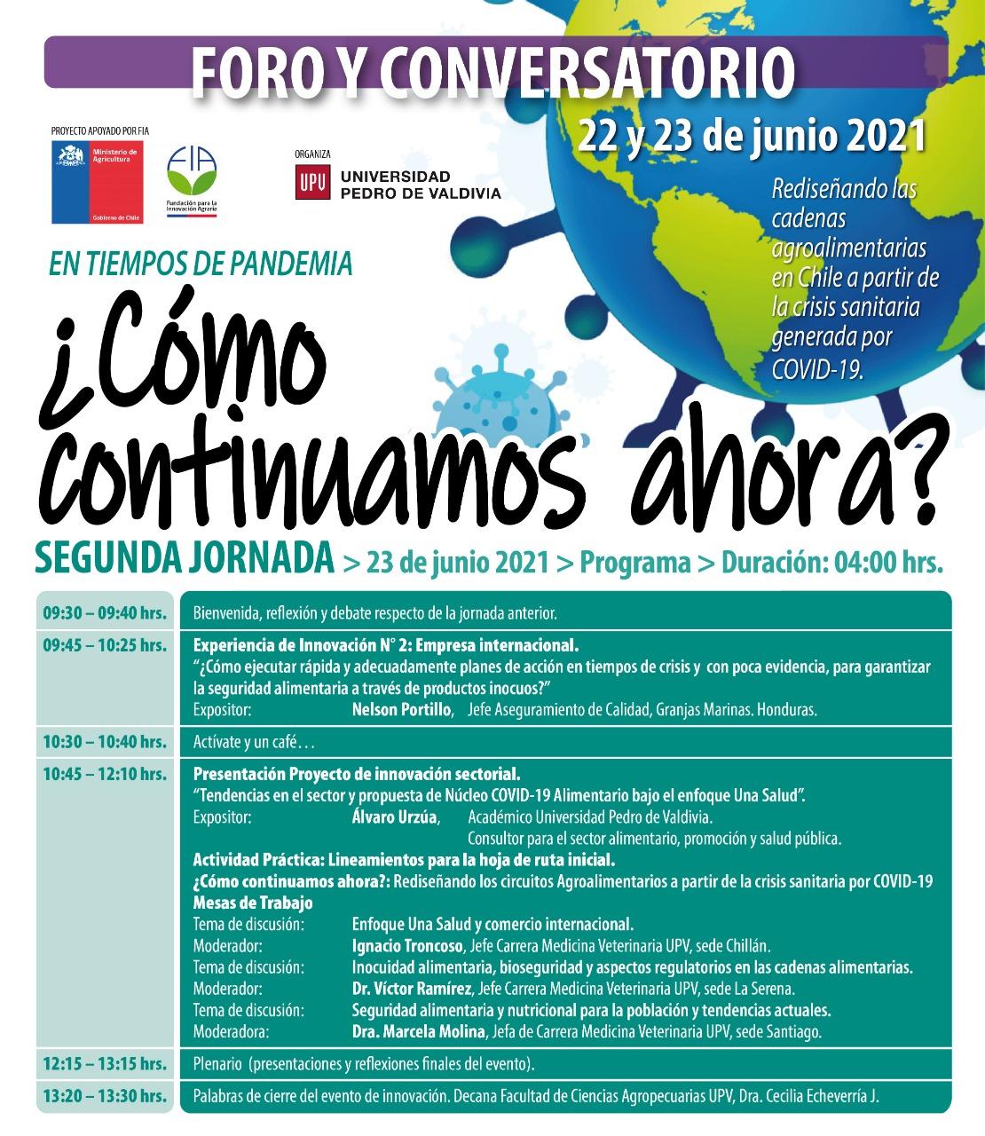 Foro internacional sobre innovación, inocuidad y bioseguridad de las cadenas agroalimentarias en tiempos de COVID-19