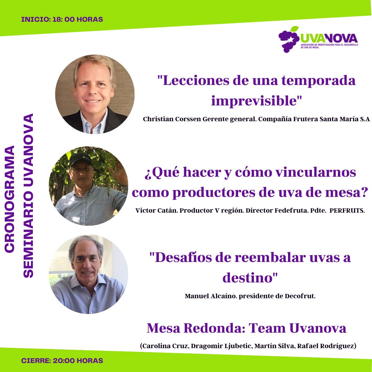 Nuevo seminario Uvanova: Diagnóstico, visión y acción para los cambios en uva de mesa
